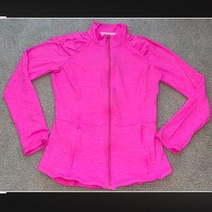 Lilly Pulitzer Luxletic Jacket Hot Pink EUC